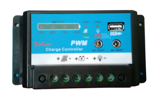 DC 12V+USB 5V 10A PWM Solar Regulator Charge Controller for 12V Car Battery