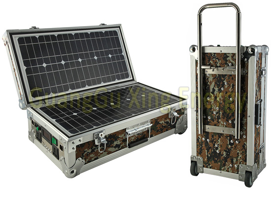 40W Portable Solar Suitcase System