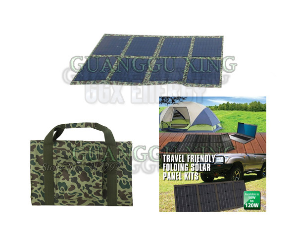 80 Watt Folding Kits Solar Powered 12V Battery Charger for 4x4 and Camping