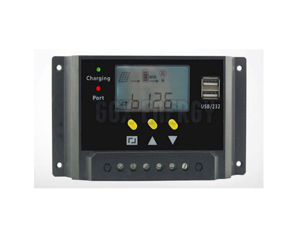 LCD Screen 10A 12V/24V USB 5V PWM Solar Controller Solar Home System Charge Controller